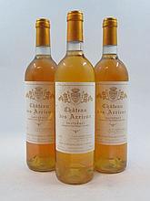 12 bouteilles CHÂTEAU DES ARRIEUX 1997 Sauternes (étiquettes abimées)