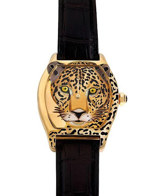 cartier tortue xl jaguar n 46 80 vers 2011 exceptionnelle. Black Bedroom Furniture Sets. Home Design Ideas