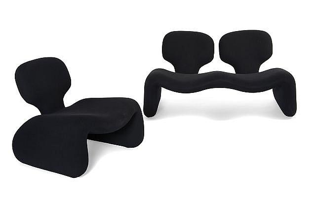 Olivier mourgue n en 1939 ensemble comprenant un canap e - Ensemble canape fauteuil ...