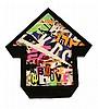 ABOVE Né en 1981 PURPPLE KIDS - 2011 Collages d'affiches déchirées sur panneau de bois découpé et résine,  ABOVE, Click for value