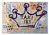 ¤ TAKI 183 Né circa 1953 SANS TITRE Peinture aérosol et marqueur sur plan de métro de New York (MTA),  TAKI 183, Click for value