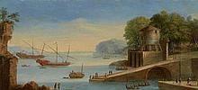 Attribué à Orazio Grevenbroeck Paris, 1670 - (?), 1743 Deux galères dans une rade méditerranéenne Huile sur cuivre