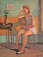 Ossip LUBITCH (1896-1990) DANSEUSE DANS L''ATELIER Huile sur toile, Ossip Lubitch, Click for value