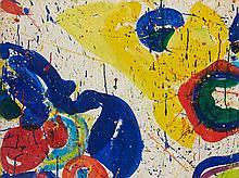Sam FRANCIS (1923-1994) LOS ANGELES/TOKYO, 1963-1964 Acrylique sur papier