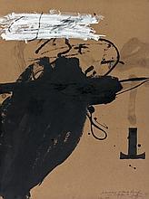 Antoni TAPIES (1923 - 2012) PROJET D'AFFICHES, 1983 Gouache sur carton