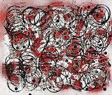 ARMAN (1928-2005) PEINTURE D'EMPREINTES, 1972 Encre et impressions sur toile