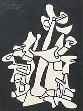 Jean DUBUFFET (Le Havre, 1901- Paris, 1985) L'OISEAU REMINISCENCE SURGISSANT DES ARBRES, 11 décembre 1970 Dessin au marker noir (déc..
