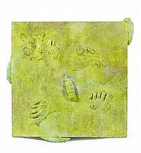 Tetsumi KUDO (1935-1990) COMPOSITION Technique mixte et résine sur panneau