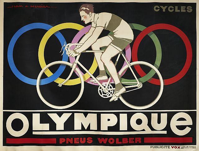 Jean - Adrien MERCIER (1899 - 1995)  OLYMPIQUE - PNEUS WOLBER