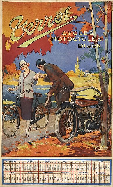 RIBET, René BERTI dit (1884 - 1939)  TERROT - CYCLES, MOTOCYCLES