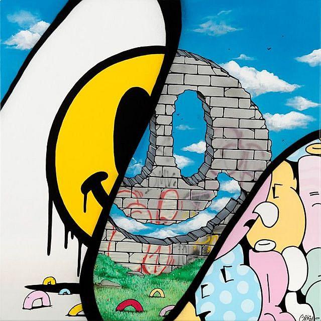 GRIS1 Né en 1981 SANS TITRE - 2015 Acrylique, marqueur et peinture aérosol sur toile