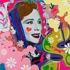 INDIE 184 Née en 1980 SANS TITRE - 2015 Acrylique, peinture aérosol et photo sur papier marouflé sur toile,  INDIE184, Click for value