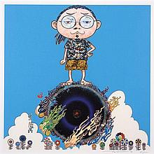 Takashi MURAKAMI Né en 1962 Standing On The Bridge Linking Space and Time- 2014 Sérigraphie