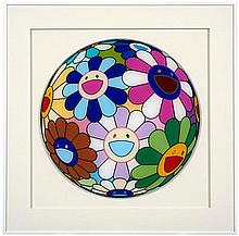 Takashi MURAKAMI Né en 1962 Dinner Plate from Opening Dinner for Murakami - 2007 Plexiglas imprimé dans la masse
