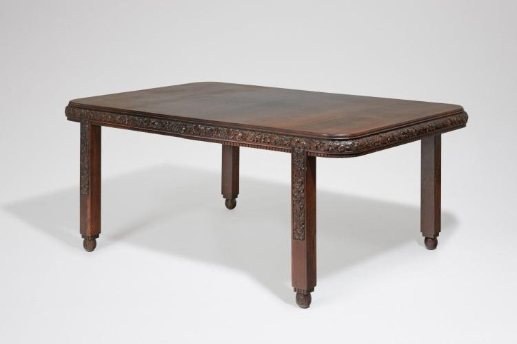 Paul follot 1877 1941 table de salle manger circa 1922 for Table salle a manger retractable
