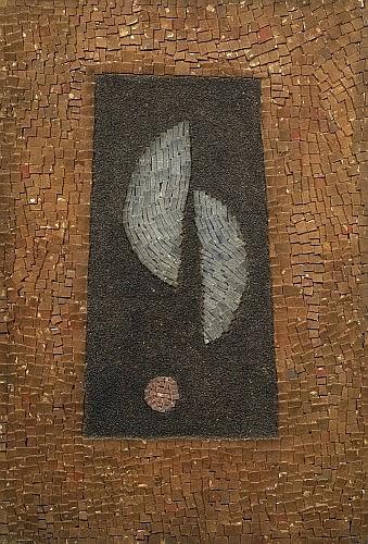 Arthur Luiz PIZA (Né en 1928) MOSAIQUE, circa 1960 Technique mixte et collage sur panneau contrecollé sur carton