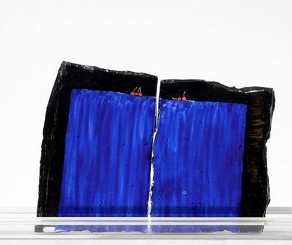 Philippe FAVIER (né en 1957) LES CERISES (Diptyque), circa 1986 Email à froid sur verre