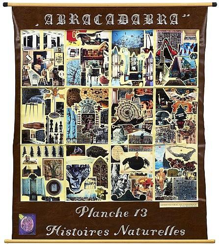 Patrick VAN CAECKENBERG (né en 1960) LEHRMITTELVERLAG VAN CAECKENBERGH, 1992 Technique mixte et collage sur toile en linoleum