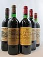 9 bouteilles 1 bt : CHÂTEAU CANTENAC BROWN 1973 3è GC Margaux (base goulot, étiquette sale)