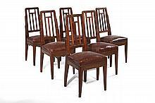 Francis JOURDAIN  Suite de six chaises