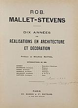 ROB MALLET-STEVENS   Dix années de réalisations en architecture et décoration