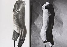 Chris MARKER  2 photographies d'une sculpture en buste
