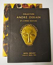 Catalogue de la Collection André Derain  Catalogue de vente à l'Hôtel Drouot, 9-10-11 mars 1955.