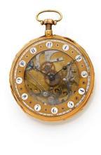ANONYME REPETITION DES HEURES ET DES QUARTS N° 3577 début XIXème. Belle montre de poche à répétitions des heures et des quarts. Ca...