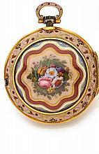 MARKWICK MARKHAM REPETITION DES HEURES fin XVIIIe siècle Rare et belle montre à coq à triple boîte en or à répétition des heures...