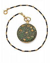 HENRI CAPT CHRONOMETRE N°49682 vers 1880  Rare et belle montre de poche en or. Boîtier rond, lunette et fond de boîte entièremen...