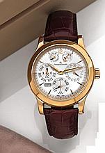 JAEGER LECOULTRE QUANTIEME PERPETUEL MASTER 8 DAYS N°2445719 vers 2005 Rare et belle montre bracelet à quantième perpétuel en or...