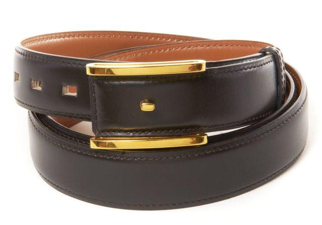 herm s ceinture pour homme nadir box marron garniture m tal. Black Bedroom Furniture Sets. Home Design Ideas