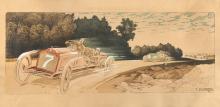 Ernest MONTAUT (1879-1909)  Circuit des Ardennes Belges, 1906