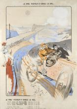 Ernest MONTAUT (1879-1909)  Le pneu Michelin a vaincu le rail