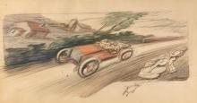 Ernest MONTAUT (1879-1909)  Etude de vitesse
