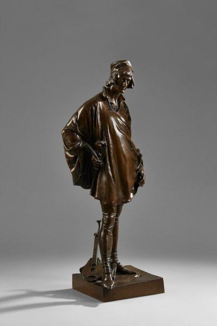Jean-François ETCHETO (1853-1889) François Villon Bronze à patine brune