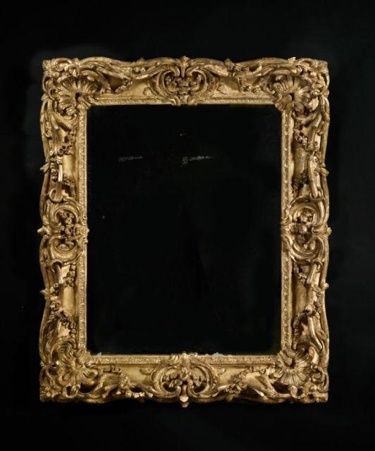 Cadre d 39 poque louis xv mont en miroir for Miroir louis xv