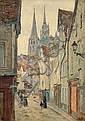 Louis HAYET (1864-1940) VIEILLE RUE PRES DE LA CATHEDRALE, 1902 Huile sur carton marouflé sur toile, Louis Hayet, Click for value