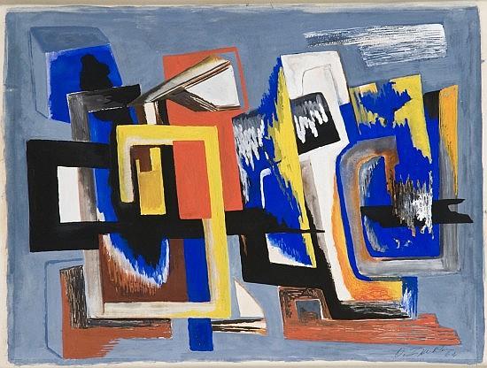 Ossip ZADKINE (1890-1967) COMPOSITION, 1964 Aquarelle et gouache sur papier