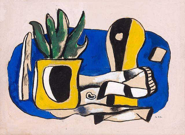 Fernand LEGER (Argentan, 1881 - Gyf-sur-Yvette, 1955) COMPOSITION, 1936 Gouache sur papier