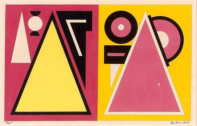 Auguste HERBIN (Qiuévy, 1882 - Paris, 1960) NOTES DE MUSIQUE