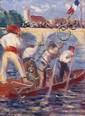 Maximilien LUCE (Paris, 1858 - Paris, 1941) ACCOLAY, LES JOUTES, circa 1906-1907 Huile sur carton