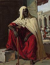Horace VERNET 1789-1863 MAURE AU CHIBOUK Huile sur toile