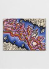 SONIC Américain - Né en 1961 Sans titre - 1982 Peinture aérosol et acrylique sur toile