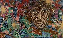 A-ONE (Anthony Clark dit) Américain - 1964 - 2001 Que mas?! - 1993 Peinture aérosol sur toile
