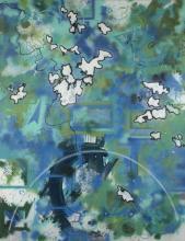 FUTURA 2000 Américain - Né en 1955 Interkosmos - 1984 Peinture aérosol et acrylique sur toile