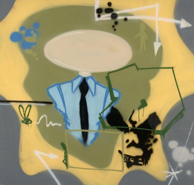 DONDI WHITE (Donald J. White dit) Américain - 1961 - 1998 Untitled - 1983 Peinture aérosol sur toile
