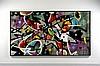 MIST Français - Né en 1972 Yellow sub - 2012 Acrylique, peinture aérosol et marqueur sur toile
