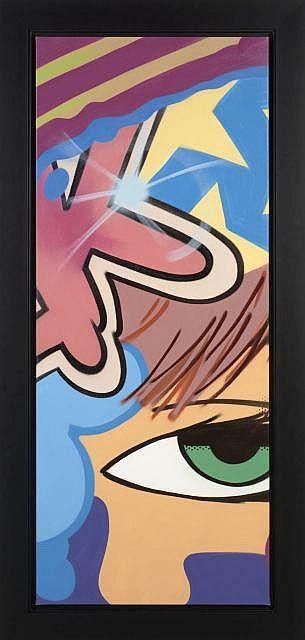 CRASH (John Crash Matos dit) Américain - Né en 1961 Untitled - 2010 Peinture aérosol sur toile