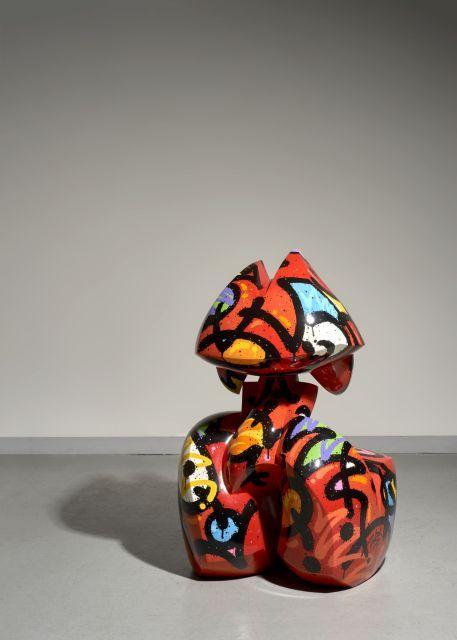 MIST Français - Né en 1972 Chamawlus - 2009 Résine polyester peinte à l'acrylique et vernis
